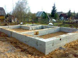 Расчет объема бетона на фундамент