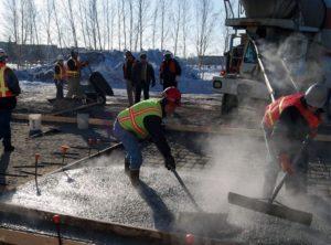 ремонт бетона при отрицательных температурах