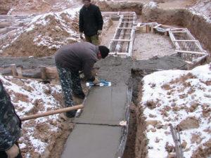 Как делается ремонт бетона при отрицательных температурах