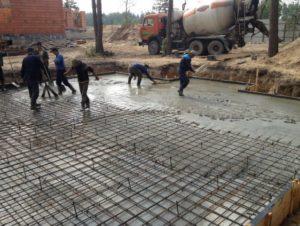 Как делается укладка бетона