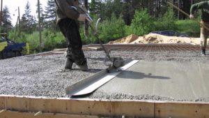 укладка бетона на бетон