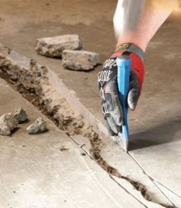 Самостоятельная заделка трещин в бетоне