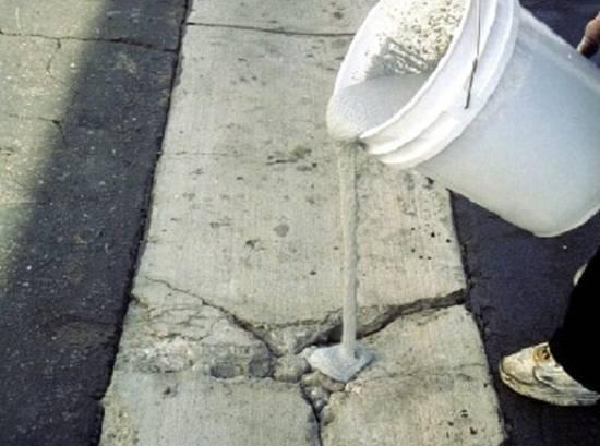 цемент и пва для заделки трещин