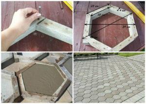 Сделать форму для бетонной дорожки