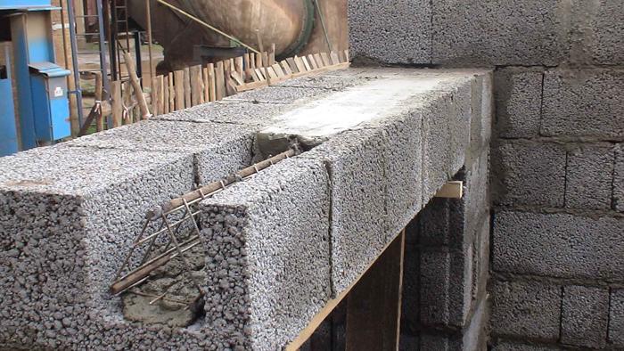 Керамзитобетон перемычка виды лестниц из бетона в дом